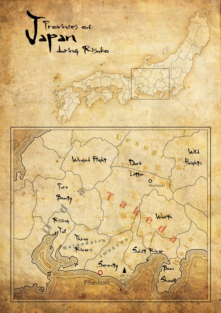 Risuko Maps-Sengoku Map of Japan