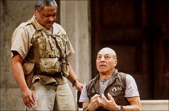 Ron Canada as Iago and Patrick Stewart as Othello