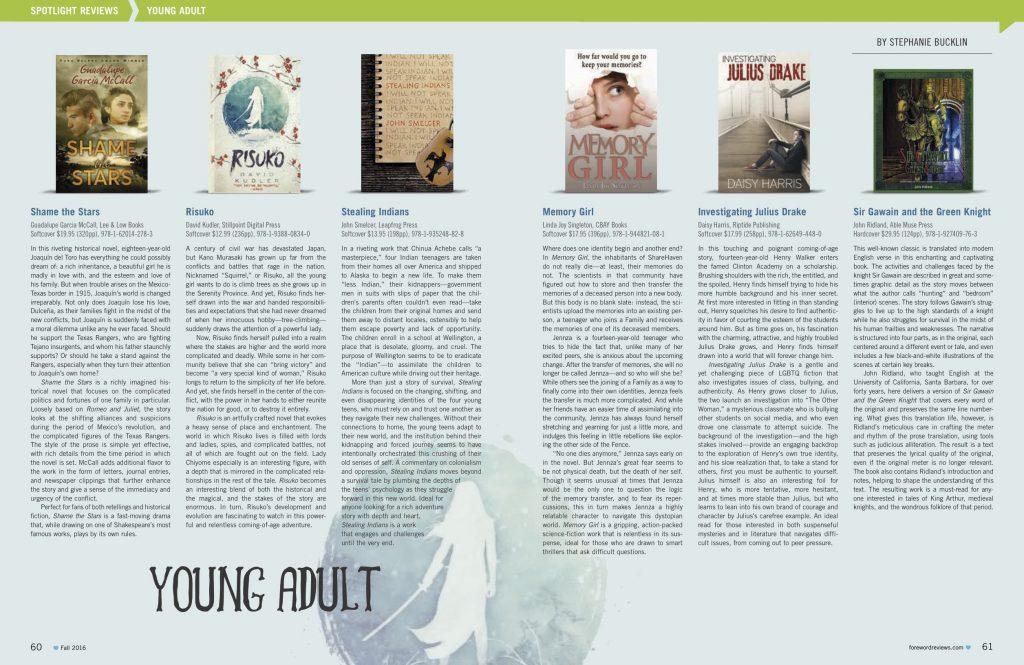 Foreword Reviews: Risuko